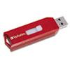 Verbatim® Store 'n' Go USB 2.0 Flash Drive, 4GB, Red VER95236