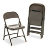 Virco® Metal Folding Chairs, Mocha, 4/Carton VIR16213M
