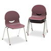 "IQ Series Stack Chair, 17-1/2"" Seat Height, Wine/Chrome, 4/Carton"