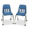 Virco® Padded Teacher's Chair, 18-5/8 x 21 x 30, Navy VIR9050P51
