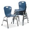 "Virco® Zuma Ergonomic Stack Chair, 18"" High Bucket Seat, Blueberry, 4/Carton VIRZU41840"