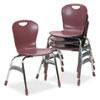 "Virco® Zuma Ergonomic Stack Chair, 18"" High Bucket Seat, Wine, 4/Carton VIRZU41850"