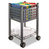 Vertiflex™ Sidekick File Cart, One-Shelf, 13 3/4w x 15 1/2d x 26 1/4h, Matte Gray VRTVF52002