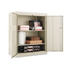 "Assembled 42"" High Storage Cabinet, w/Adjustable Shelves, 36w x 18d, Putty"