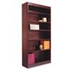 "<strong>Alera®</strong><br />Square Corner Wood Veneer Bookcase, Six-Shelf, 35.63""w x 11.81""d x 71.73""h, Mahogany"