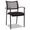 Alera® Eikon Series Stacking Mesh Guest Chair, Black, 2/Carton ALEEK43ME10B