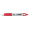 Z-Grip MAX Retractable Ballpoint Pen, Medium 1mm, Red Ink, Silver Barrel, Dozen