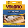 Velcro® Sticky-Back Hook and Loop Fastener Tape with Dispenser, 3/4 x 15 ft. Roll, Beige VEK90083