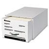 Universal® Heavy-Duty Storage Box Drawer, Legal, 17 1/4 x 25 1/2 x 11, White, 6/Carton UNV85301