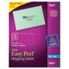 Avery® Clear Easy Peel Shipping Labels, Inkjet, 2 x 4, 100/Pack AVE18663