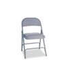 Alera® Steel Folding Chair w/Padded Seat, Light Gray, 4/Carton ALEFC94VY40LG