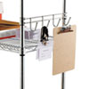 "<strong>Alera®</strong><br />Hook Bars For Wire Shelving, Four Hooks, 18"" Deep, Silver, 2 Bars/Pack"