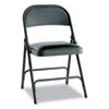 Alera® Steel Folding Chair w/Padded Seat, Graphite, 4/Carton ALEFC94VY10B