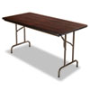 <strong>Alera®</strong><br />Wood Folding Table, Rectangular, 59 7/8w x 29 7/8d x 29 1/8h, Mahogany