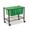 <strong>Alera®</strong><br />Single-Tier Rolling File Cart, 24w x 14d x 21h, Black
