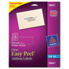 Avery® Clear Easy Peel Address Labels, Inkjet, 1 1/3 x 4, 140/Pack AVE18662