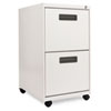 TWO-DRAWER METAL PEDESTAL FILE, 14.96W X 19.29D X 27.75H, LIGHT GRAY