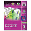 Avery® Insertable Big Tab Plastic Dividers w/Double Pockets, 8-Tab, 11 x 9 AVE11907
