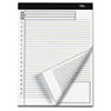 TOPS® Docket Gold Planning Pad, Ruled, 8 1/2 x 11 3/4, White, 40 Sheets, 4 Pads/Pack TOP77100