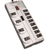 Tripp Lite TLP1208TEL Surge Suppressor, 12 Outlets, 8 ft Cord, 2160 Joules, Silver TRPTLP1208TEL
