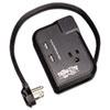 "Tripp Lite 3-Outlet Travel-Size Surge Protector, 18"" Cord, 2-Port 2.1A USB Charger, 1050 J TRPTRAVELER3USB"