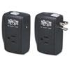 Tripp Lite Protect It! Two-Outlet Portable Surge Suppressor, 1050 Joules, Black TRPTRAVLER100BT