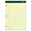 TOPS® Double Docket Pad, Extra Stiff Back, 8 1/2 x 11 3/4, Canary, 100 Sheets TOP63378