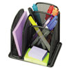 Onyx Mini Organizer with Three Compartments, Black, 6 x 5 1/4 x 5 1/4