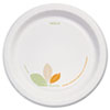 "Dart® Bare Paper Eco-Forward Dinnerware, 8 1/2"" Plate, Green/Tan, 250/Carton - OFMP9-J7234"