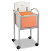 Safco® Impromptu Locking File Cart, 20-1/4w x 21-1/2d x 30-3/4h, Gray/Silver SAF5374GR