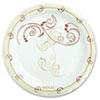 "<strong>Dart®</strong><br />Symphony Paper Dinnerware, Mediumweight Plate, 6"" dia, Tan, 125/Pack"