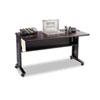 Safco® Mobile Computer Desk W/Reversible Top, 53.5 x 28 x 30, Mahogany/Medium Oak/Black SAF1933