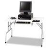 Safco® Folding Computer Table, Rectangular, 47 1/2w x 29 3/4d x 28 3/4h, Light Gray SAF1935GR