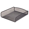 Desk Tray, Single Tier, Steel Mesh, Letter, Black