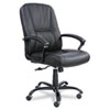 Safco® Serenity Big & Tall Leather Series High-Back Chair, Black Leather SAF3500BL