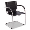 Safco® Flaunt Series Guest Chair, Black Leather/Chrome SAF3457BL