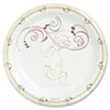 """<strong>Dart®</strong><br />Symphony Paper Dinnerware, Mediumweight Plate, 8 1/2"""" Round, Tan, 125/Pack"""