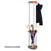 "Safco Mode Umbrella Rack Wood Costumer - 9 Hooks - 10 lb (4.54 kg) Capacity - 2"" Size - for Garment, SAF4214CY"