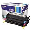 Samsung CLTP409A Toner, 1000 Page-Yield, Cyan, Magenta, Yellow, 3/Box SASCLTP409A