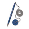 MMF Industries™ Secure-A-Pen Ballpoint Antimicrobial Counter Pen with Base, Blue Ink, Medium MMF28908