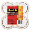 "Scotch® Moving & Storage Tape, 1.88"" x 54.6yds, 3"" Core, Clear, 4 Rolls/Pack MMM36504"