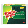 "Scotch-Brite® Heavy-Duty Scrub Sponge, 4 1/2"" x 2 7/10"" x 3/5"", Green/Yellow, 6/Pack - 426"