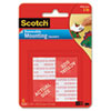 "Scotch® Precut Foam Mounting 1"" Squares, Double-Sided, Removable, 16/Pack - 108"