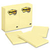 Post-it® Notes Original Pads in Canary Yellow, Lined, 4 x 6, 100-Sheet, 12/Pack MMM660YW