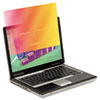 """3M Frameless Gold Notebook Privacy Filter for 15.6"""" Widescreen Monitor, 16:9 MMMGPF156W9"""