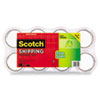 """Scotch® Sure Start Packaging Tape, 1.88"""" x 54.6yds, 3"""" Core, Clear, 8/Pack MMM34508"""