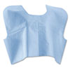 Medline Disposable Patient Capes, 3-Ply T/P/T, 30 in. x 21 in., Blue 100/Carton MIINON25249