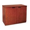 Mayline® Mira Series Veneer 36W Hinged Door Credenza, 36w x 20d x 29½h, Medium Cherry MLNMHDC3620MC