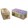 Post-it® Notes Super Sticky Recycled Notes in Bora Bora Colors, 3 x 3, 70-Sheet, 24/Pack MMM65424SSTCP