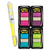 Post-it® Flags Page Flag Value Pack, Assorted Colors, 200 Flags & Highlighter w/50 Flags MMM680PPBGVA